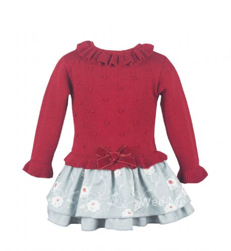 *SALE* Stunning Girls Spanish Red and Grey Dress Beautiful detail